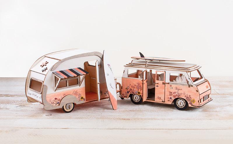 3D Wohnwagen