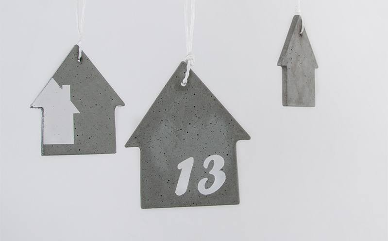 Beton-Anhänger Haus