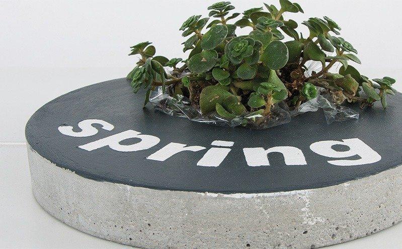 """Beton-Fliese rund """"Spring"""""""