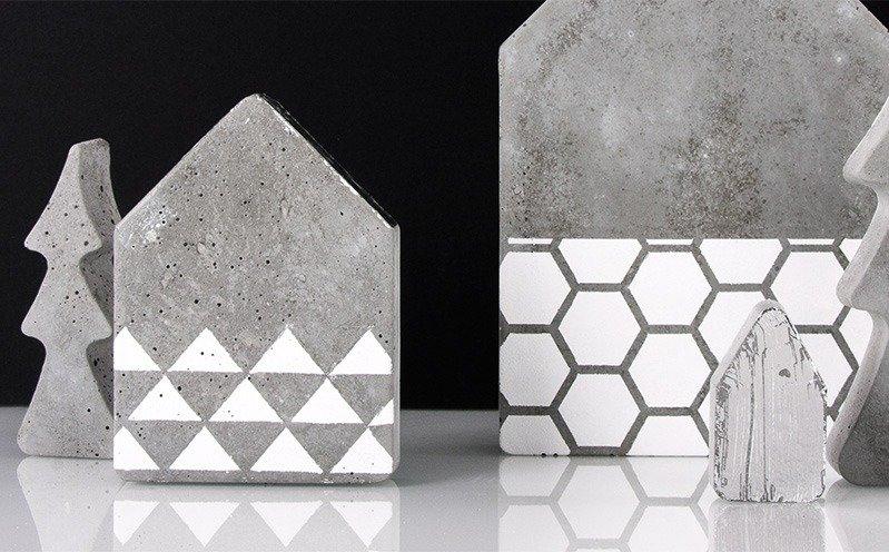 beton haus gro und beton baum bastelidee rayher. Black Bedroom Furniture Sets. Home Design Ideas