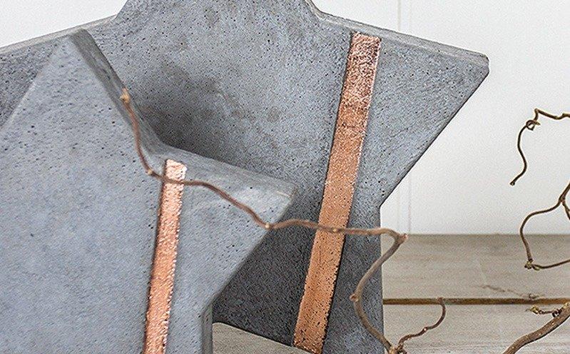 Beton-Stern 21,5 cm mit Metallicstreifen