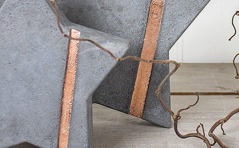 Beton-Stern 28 cm mit Metallicstreifen