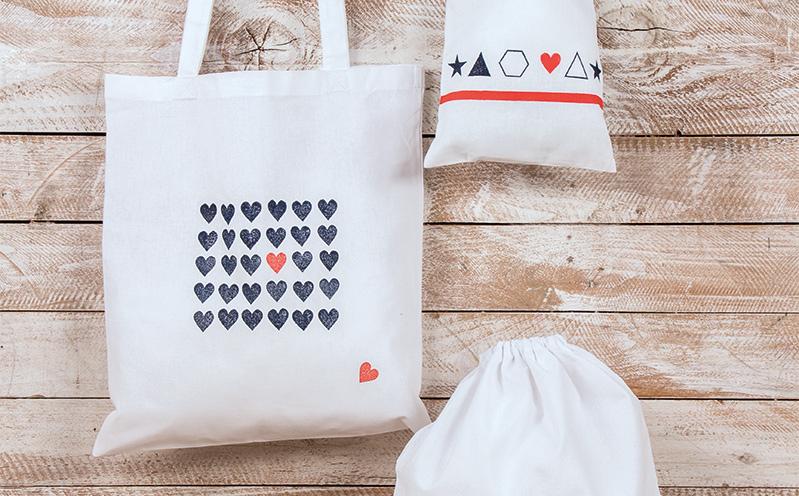 CANVAS - Baumwoll-Tasche Herzen