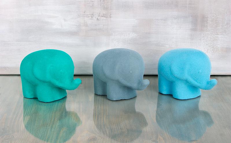 Flock Styropor-Elefanten