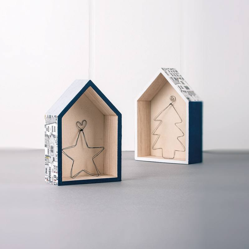 Houses with wire decoration – Craft Idea – Rayher