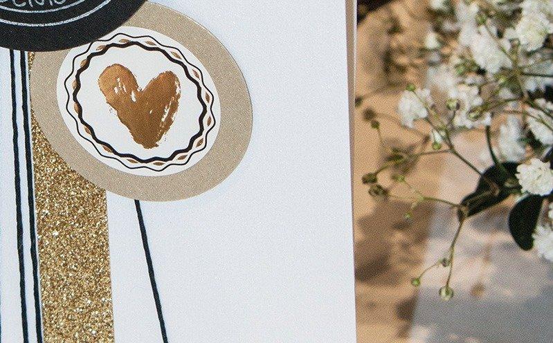 Hochzeits-Menükarte