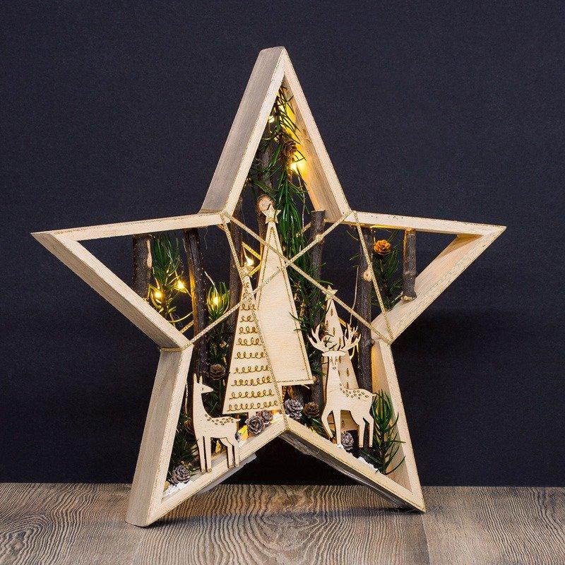 Großer Weihnachts Holz Stern