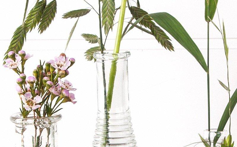 Holz Tablett mit Vase