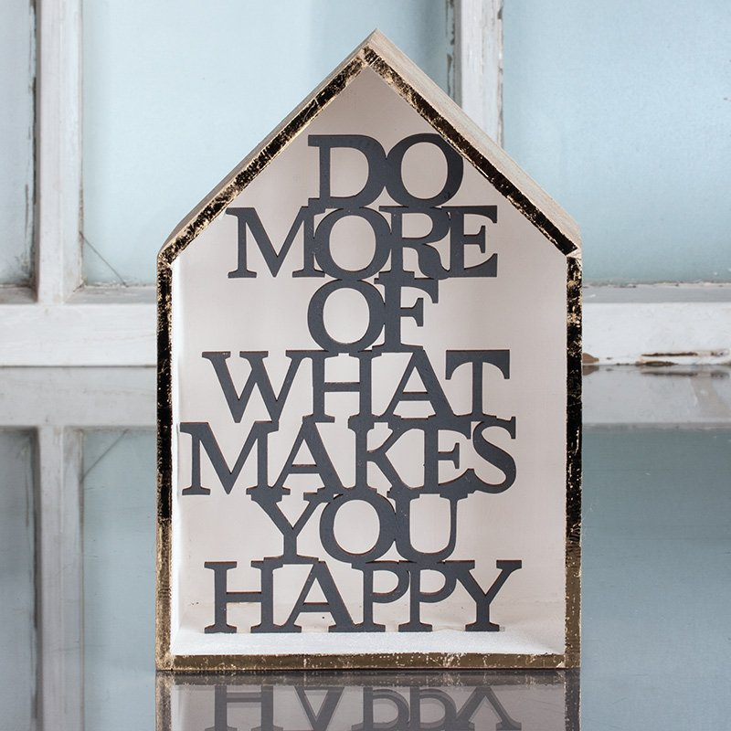 """Holzhaus """"Do more of what makes you happy"""" – Bastelidee – Rayher"""