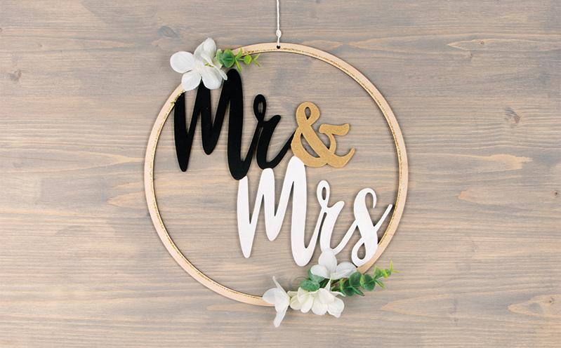 "Holzkranz ""Mr & Mrs"""