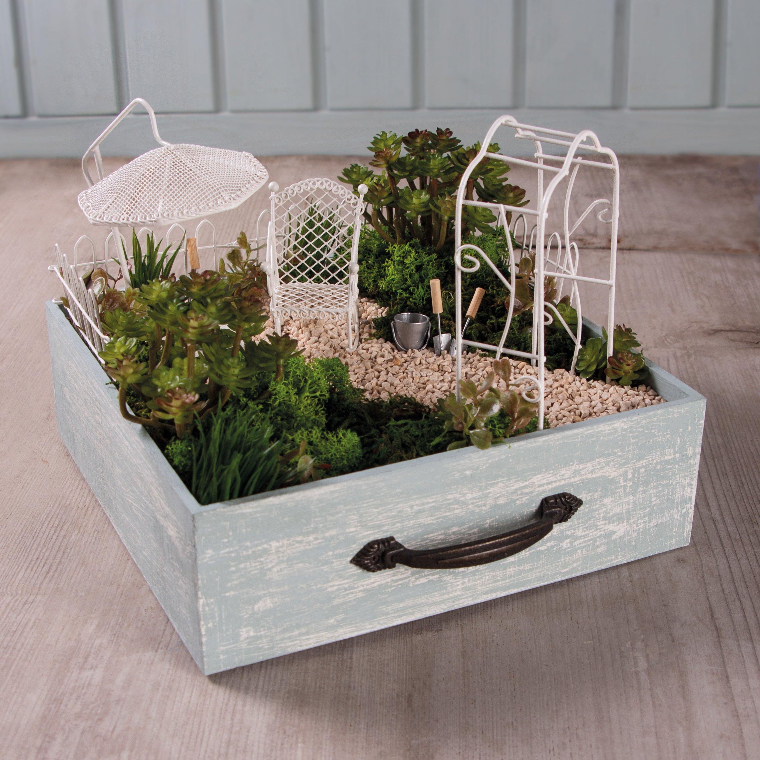 holzschublade mit minigarten – bastelidee – rayher