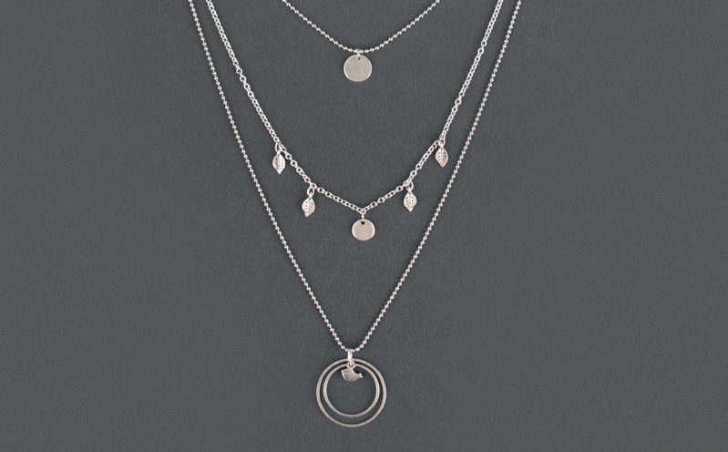 Layering-Ketten Silber