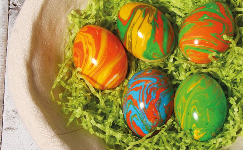 Marmorierte Eier