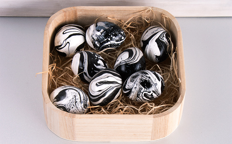 Marmorierte Eier zu Ostern