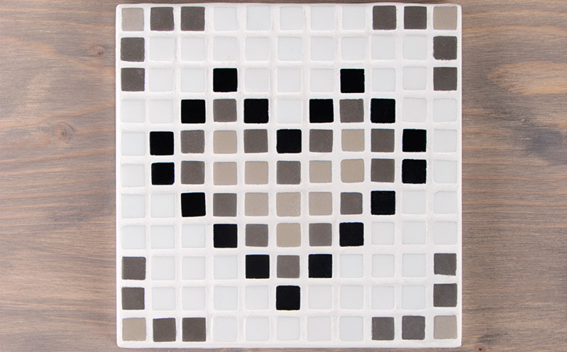 Mosaik Fliese Herz