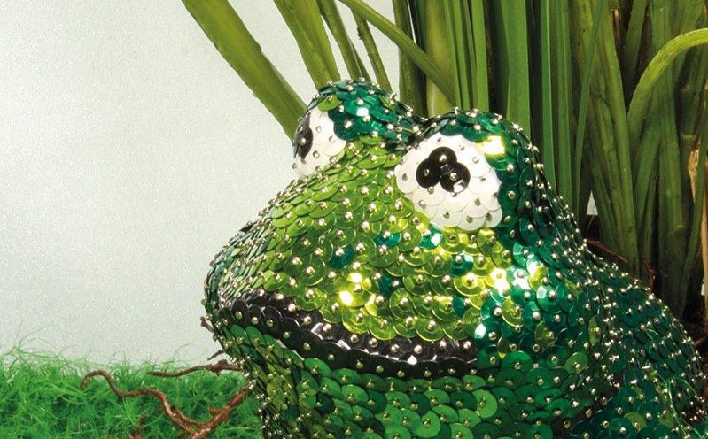 Pailletten-Frosch