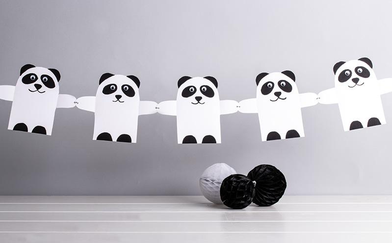 Panda-Girlande