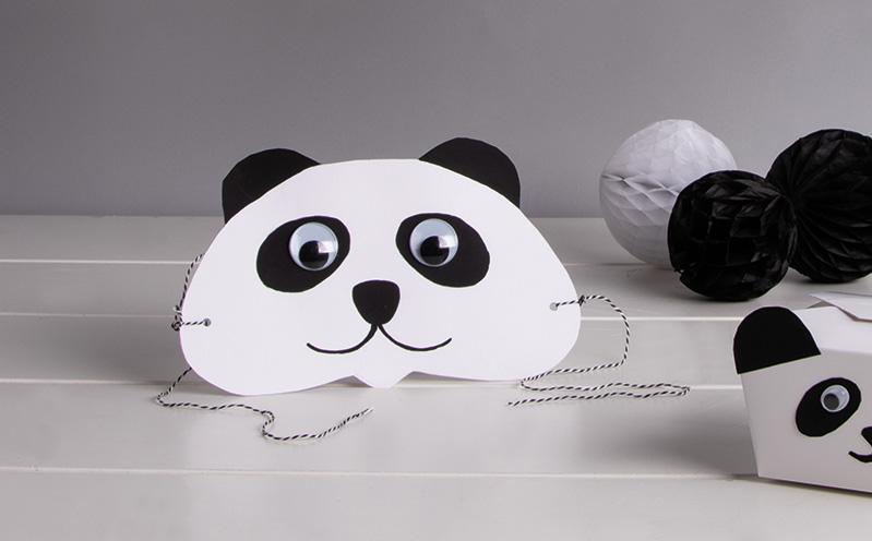 Panda-Maske