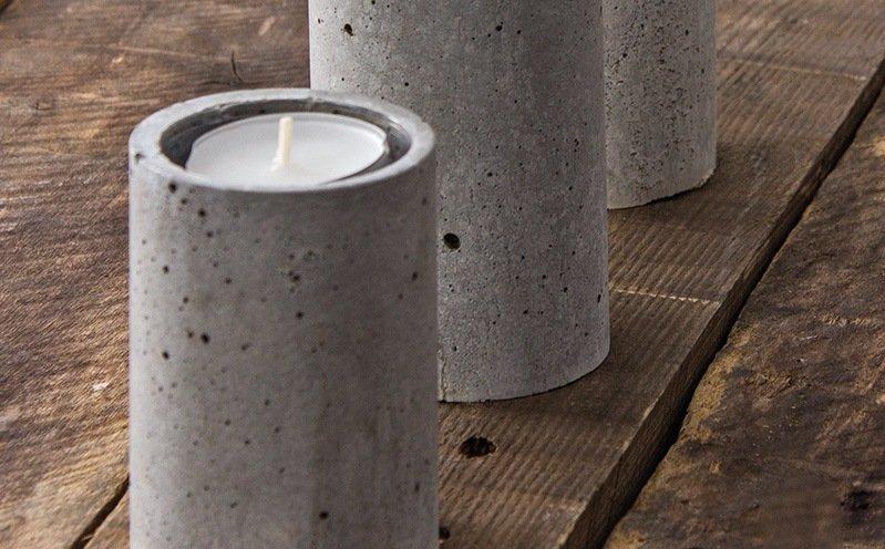 Runder Beton-Teelichthalter