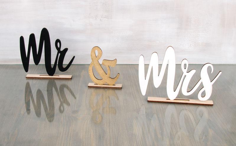 """Schriftzug """"Mr & Mrs"""""""