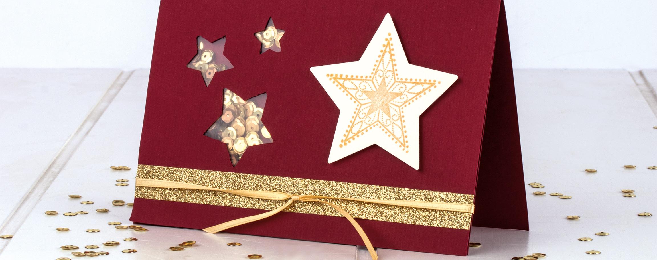 Schüttelkarte Sterne