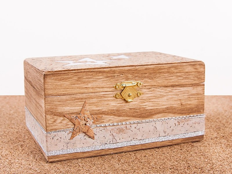 Craftideas Silver Coloured Wooden Box