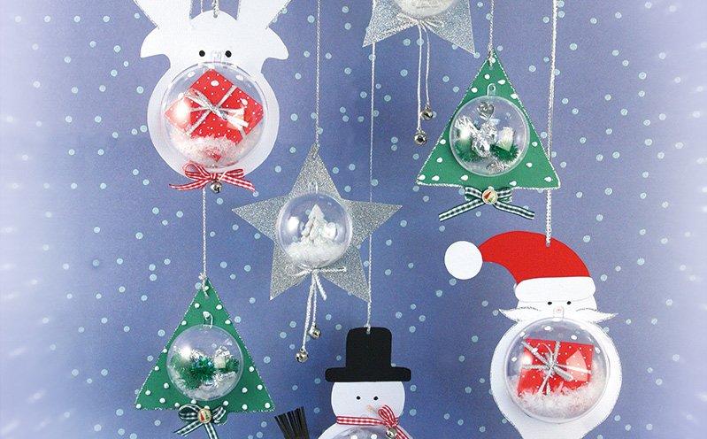 Weihnachtliche Plastikkugeln 8 cm