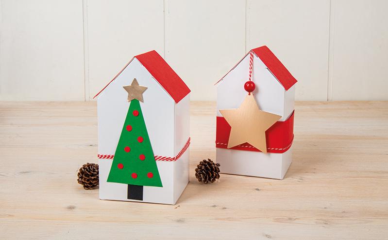 Weihnachtshäuschen Faltschachtel