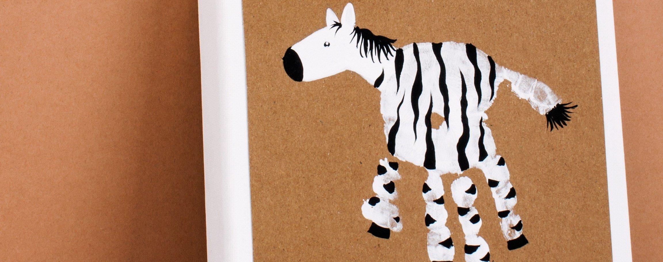 Zebra-Bild mit Fingerfarbe